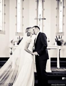 The wedding kiss :)